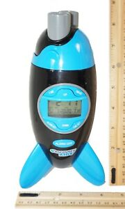 "Rocketship Projection Digital Alarm - Toy Rocket 8.5"" Clock Discovery Kids 2012"