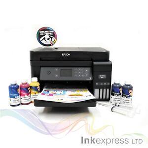 A4 Sublimation Printer Bundle: EPSON ET-3750 + 5 x 100ml Ink + Paper + ICC