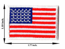 United States USA America Flag Nation Size M Logo Applique Iron on Patch Sew