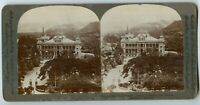 Government House former Queen Palace Honolulu Hawaii  Vintage Stereoview Photo
