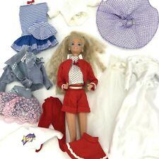 Vintage Lot 1980s Mattel Barbie Doll Multiple Outfits Wedding Dress Denim Coat