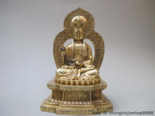 Tibet Buddhism Classical pure Brass Ksitigarbha Bodhisattva Buddha statue