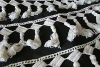 """Beautiful Antique French 1920s Hand Crafted Bobble Tassel Trim 8ft 1"""""""