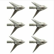 6pcs 100grain Broadheads 3 Blade Points for Compound Bow Hunting Archery