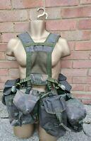 British Army DPM PLCE Webbing Yoke Belt Five Pouches,Good Grade 1
