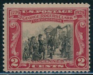 US 1929 George Rogers Clark Single, Stamp 651, Mint MNH NH - JP1