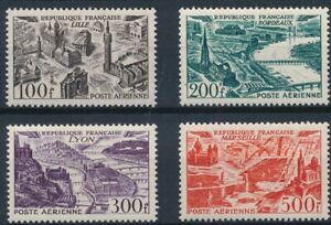 [I1578] France 1949 Airmail good set of stamps very fine MH $85