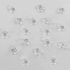 100 Schnuller Transparent Mini Dekoration Taufe Tischdeko Streuteile Baby
