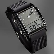 MenWomen Stylish Sport Alarm LCD&LED Digital Analog Quartz Wrist WatchWaterproof