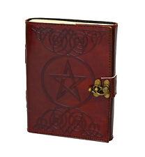 Pentagramm Star Gothic Vintag Leather Journal Diary PREMIUM PAPER Handmade India
