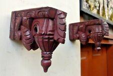 Wall Wooden Corbel Pair Bracket For Shelve Home Art Decor Bodhil Diwali Gift US