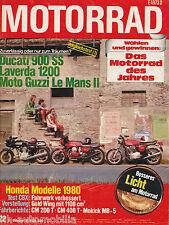 Motorrad 22/79 1979 DKW 531Ducati 900 SS Laverda 1200 Guzzi Le Mans Maico MC 440