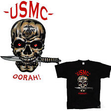 * US Marines  Army Airborne Special Forces Totenkopf Skull T-Shirt *3194