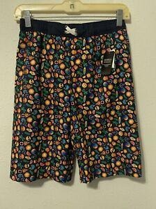 NWT iml Isaac Morris Ltd Printed Boys Swim Trunks Shorts SZ L Burgers Pizza UV50