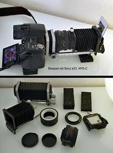 APS-C, Vollformat M42 Edixa Novoflex Balgengerät + Diakopiervorsatz + Obj.