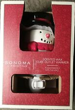Sonoma Life+Style Snowman Scented Wax Cube Outlet Tart Warmer NIB