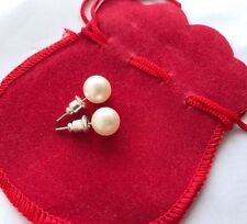 *Buy 1 Get 1 Free* Cream Faux Pearl Stud Earrings 7mm Diameter with Gift Bag