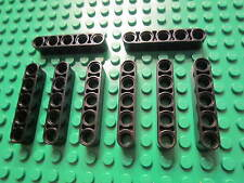LEGO TECHNIC - 8 x Thick Lift Arm Beams with holes 1 x 5 Black No 32316