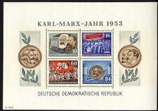 13743] DDR, Block 9 A YII postfrisch, geprüft BBP, Marx-Block, 160,- €