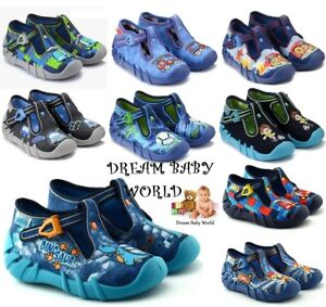 BABY KIDS BEFADO boys canvas shoes nursery slippers ankle trainers TODDLER 3-8UK
