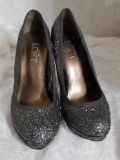 "Ann Taylor Loft Size 7 Sparkly High Heel Pumps - 4+"" Stiletto Heels! Gorgeous!"