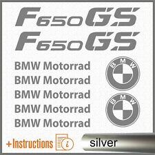 9pcs Kit ADESIVI Argento compatibile con BMW F 650 GS f650 F650GS