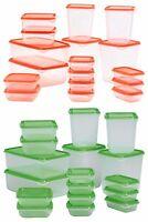 PRUTA Plastic Food Storage Container Vacuum Seal Set of 17 IKEA
