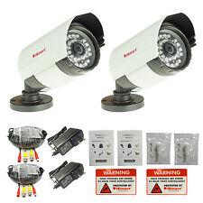 iSmart 2pack 700TVL Outdoor CCTV Home Analog Camera Security System C1006DP7