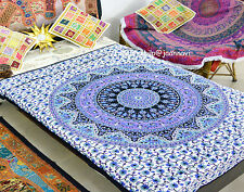Indian Bohemian Mandala Cotton Bed Duvet Cover and Two Pillow Bedding Set Covers
