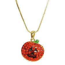 Jack-o-Lantern Sparkle Necklace *A Shimmering Halloween Pumpkin Treat*