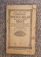 Ancien almanach Double Milan 1927, 90 pages par le pére Benoit old french book