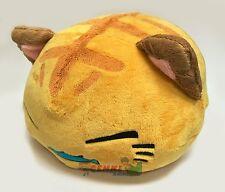 FuRyu Nemuneko Cute Fish and Tiger Neko Cat Big Cushion Plush AMU7702 ~ Yellow