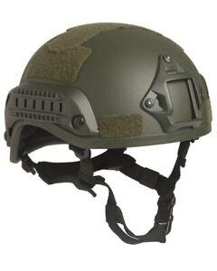 US Gefechtshelm MICH 2001 W/Rail oliv, Helm, Einsatzhelm           -NEU-
