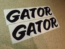 """Gator Vintage Boat Trailer Decal Black 12"""" 2-PAK FREE SHIP + FREE Fish Decal!"""