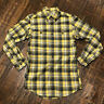 Duluth Trading Co. Heavy Yellow Trim Fit Plaid Flannel Shirt Mens Size S Small