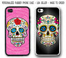 PERSONALIZED Pink MAYAN FLORAL Skull RUBBER CASE COVER For iPhone XS XR 8 7 6 SE