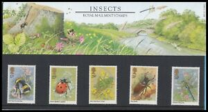 1985 GB Insects Royal Mail Presentation Pack No.160