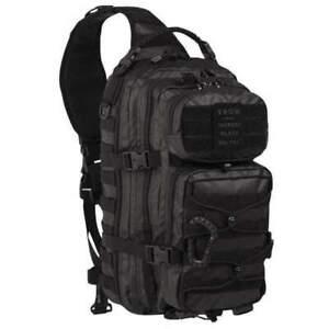MIL-TEC LARGE SLINGBACK RUCKSACK Tactical Black Crossbody Pack Backpack Bag 29L