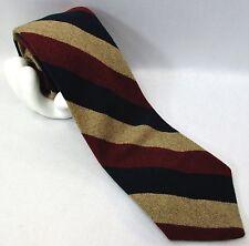 """Vintage Jos A Bank Men's Wool Blend Tie Regimental Stripe 4""""x 57"""" Brown Red Blue"""