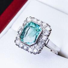 Handmade Emerald White Gold Fine Rings