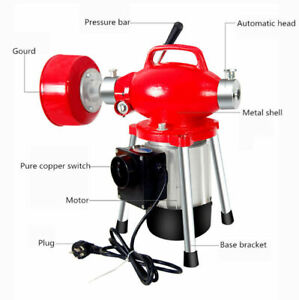 220V Electric Pipe Dredging Machine Kitchen Toilet Drain Cleaning Machine 45M