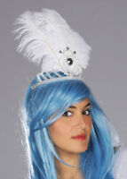 White Feather Showgirl Headdress