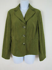 Requirements Womens Green Polyester Blend 3 Button Blazer sz M