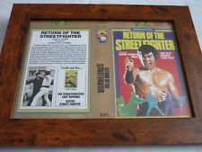 VHS Manche encadrée Couvre BIG BOX a4 VTC vidéo The Return of the street fighter