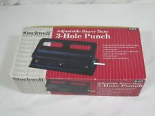 Stockwell Adjustable Heavy Duty 3 Hole Punch