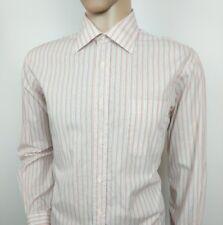 "Hugo Boss Mens Dress Shirt Orange White Stripe 17 - 43 XXL Chest 48"" New RRP£110"