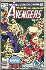 Avengers #203-1981 vf  Carmine Infantino Night Of The Crawlers