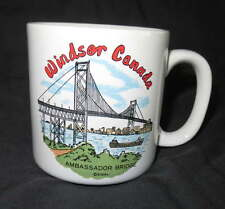 New WINDSOR CANADA Ceramic MUG Coffee Cocoa Drink Vintage Ambassador Bridge Cup