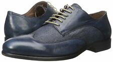 Bacco Bucci Men's Agata Oxford Blue Leather/Linen SZ 10.5 MSRP 295$ ITALY
