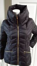 NEW MICHAEL KORS ELEGANT BLACK PACKABLE ULTRA LIGHT DOWN JACKET SIZE SMALL